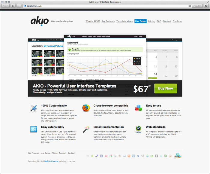 Akio User Interface Templates | BigFish Creative • We let our work ...